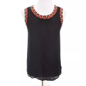 THML Anthropologie Embroidered Tank Top Sz L
